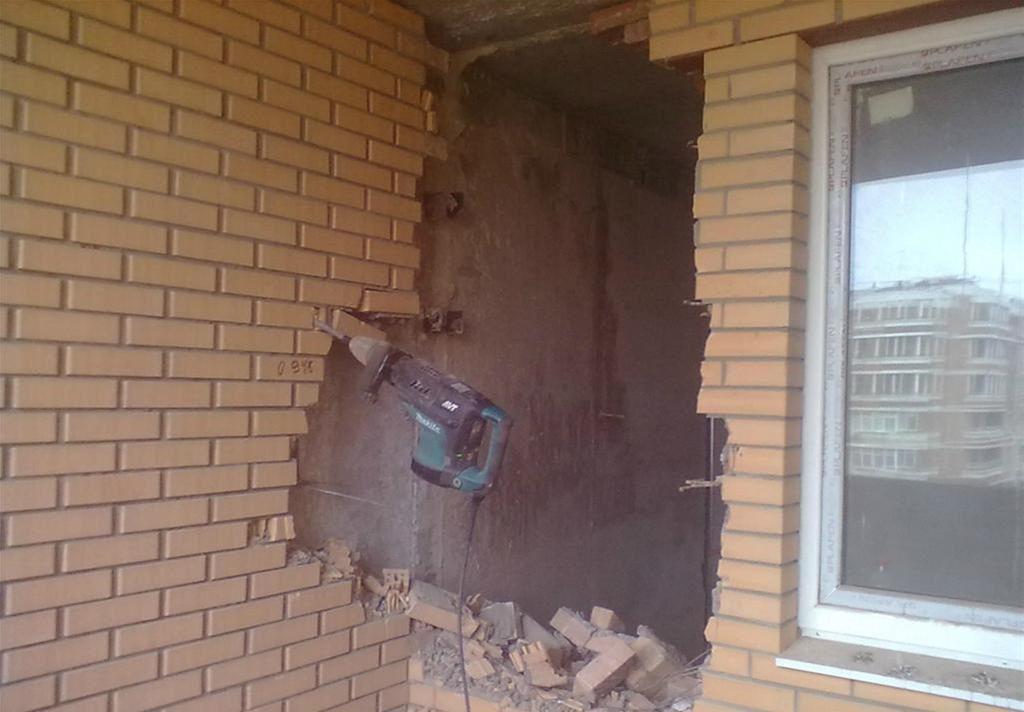 Слом кирпичных стен