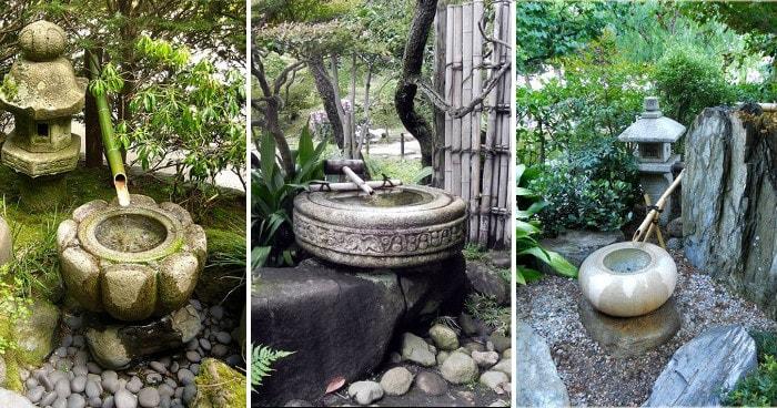 Цукубаи в японском саду