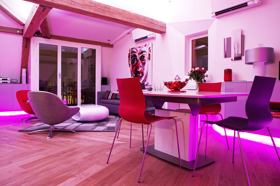 Фиолетовая столовая