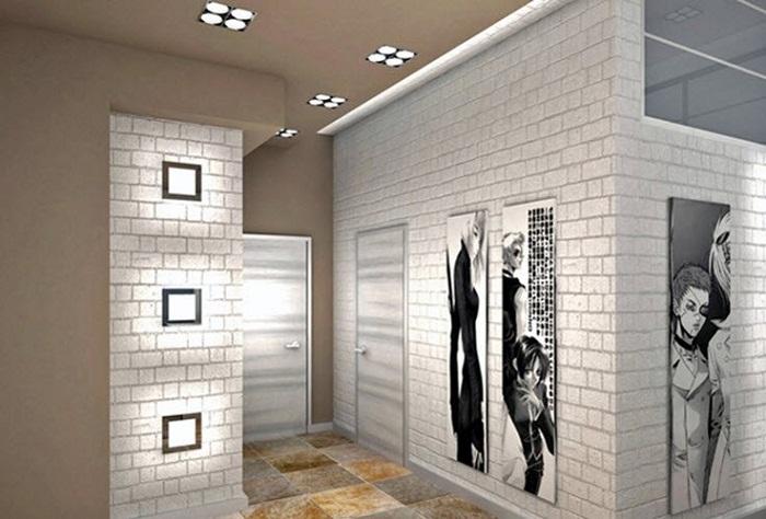 Белый кирпич в оформлении квартиры