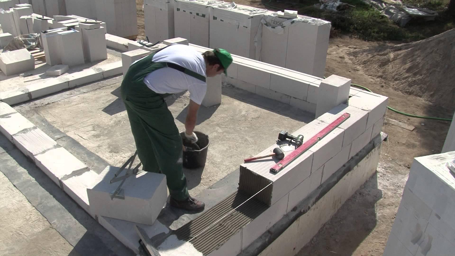 кладка стен для бани из газоблоков