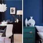 Использование синего цвета в интерьере