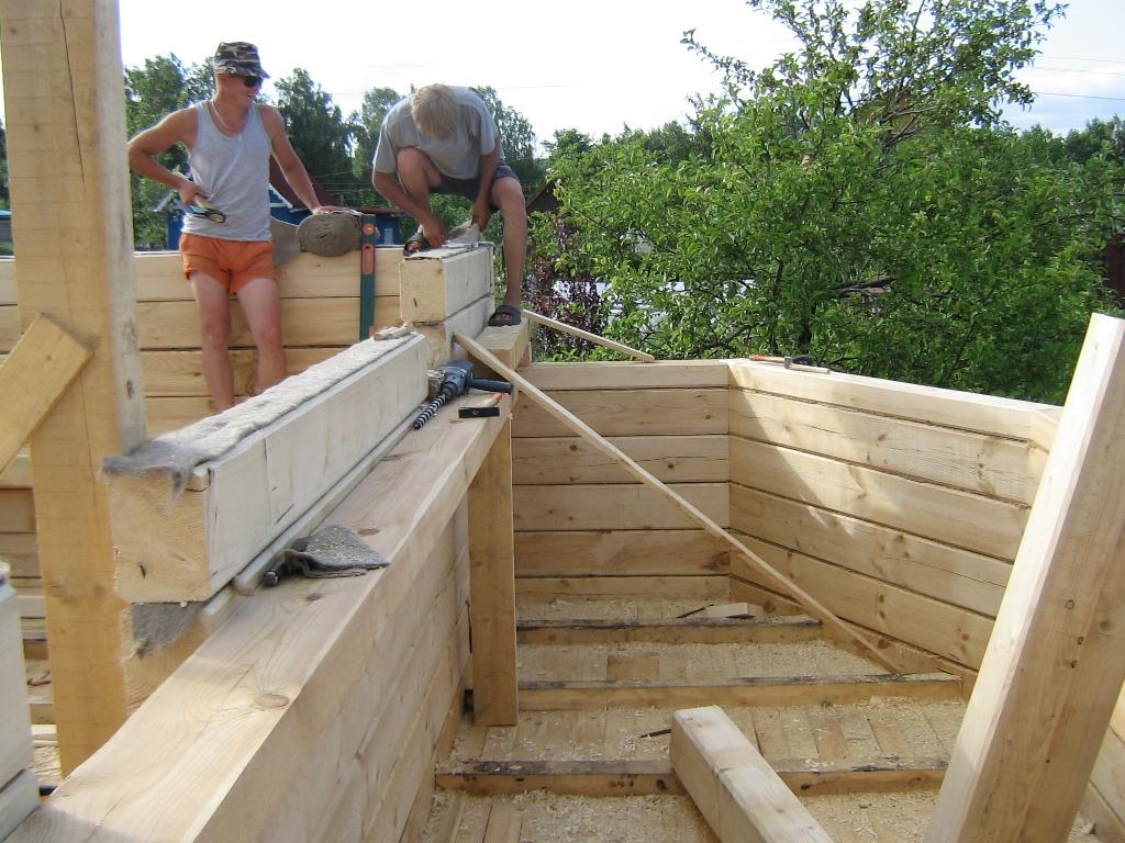 Как собрать дом из профилированного бруса своими руками 100