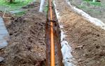 Укладка канализационных труб в землю