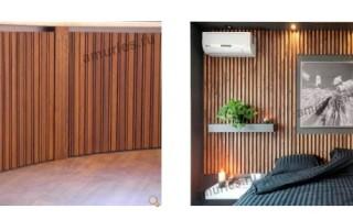 Деревянные реечные стеновые панели