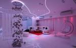 Оформление интерьера помещения с использованием неоновых потолков