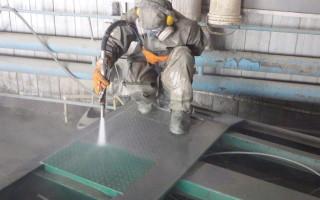 Пескоструйная обработка металлических поверхностей перед окраской