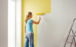 Капитальный ремонт: окраска стен