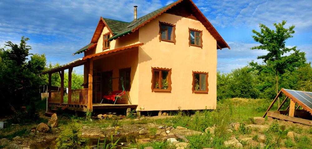 современный дом из самана