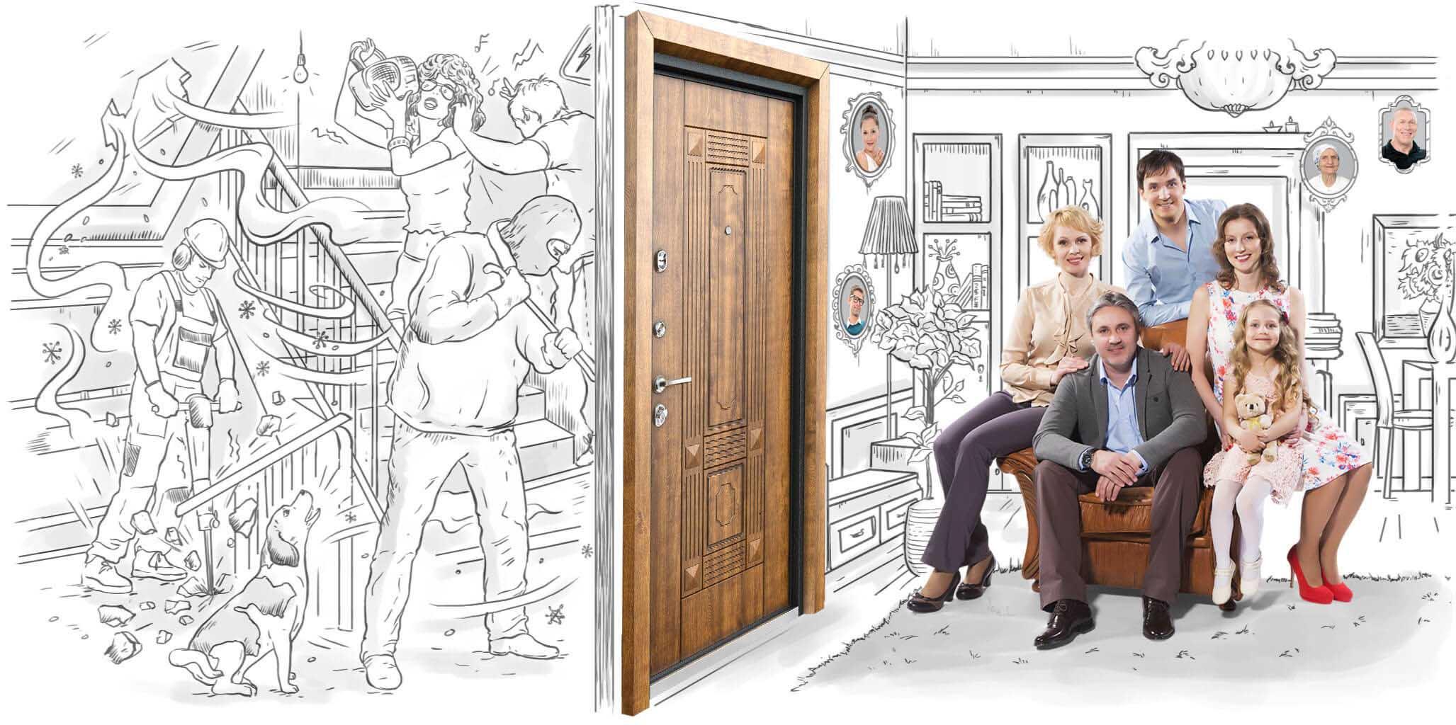 Стальные двери – защита вас и вашей семьи!
