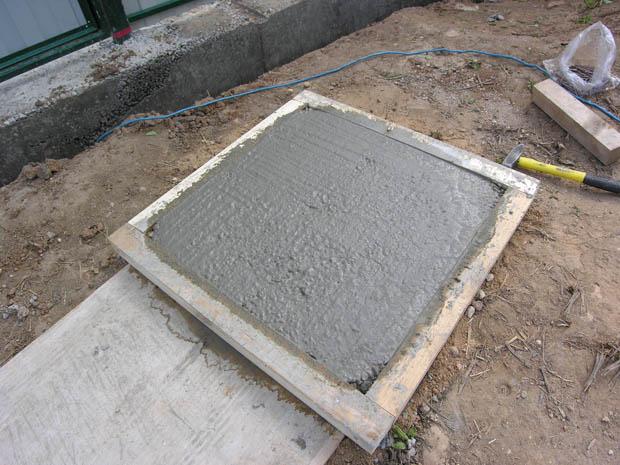 как самому сделать бетонную